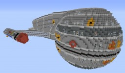 Naucrate Class Starship – Fully Explorable Minecraft Map & Project