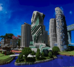 Geometric office building #5 Minecraft Map & Project