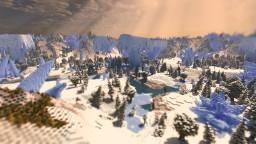 Floating Glaciers - 2k x 2k Custom Terrain - 360 Panorama Minecraft