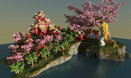 April-cherry tree-Sakura Island Minecraft Project