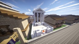 Temple of House Capola (inspired by Temple of Divus Iulius) Minecraft Project