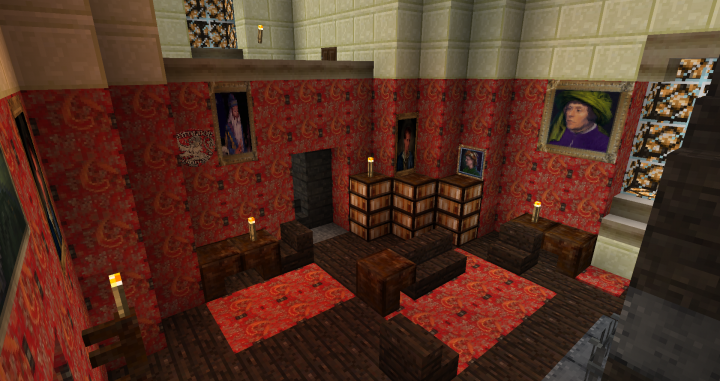 Gryffindor Common Room Minecraft CC: Hogwarts Minecraft...
