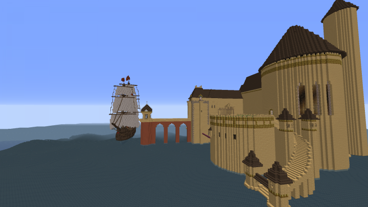 Eric S Castle From The Little Mermaid Minecraft Map