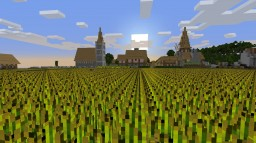 Medieval Village and Castle Over Time (Year 20) Minecraft Map & Project