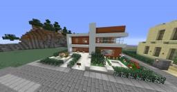 Modernish Acacia house Minecraft Project