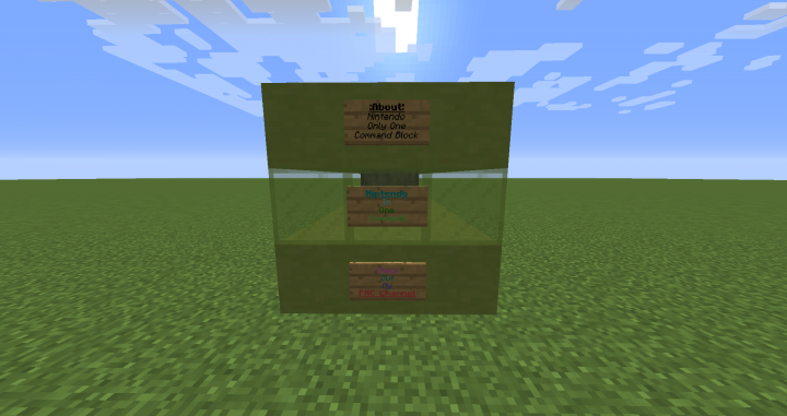 Nintendo only one command minecraft 1 10 minecraft project