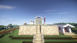 Inspired greek/roman temple Minecraft Map & Project