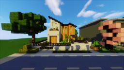 Modern Japanese House Minecraft Map & Project