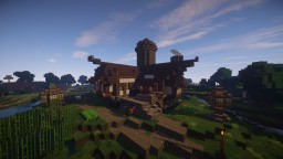 Riverside Medieval House Minecraft Map & Project