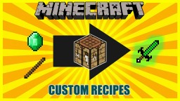 Custom Crafting 1.9 | one command | create custom recipes with an mcedit filter Minecraft
