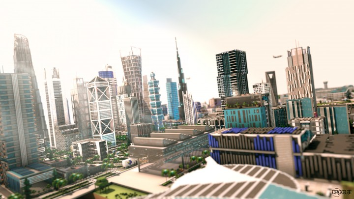 South view of the city - Rendered by droolie