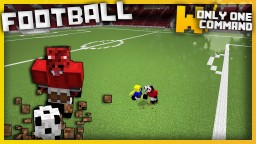 Football with only one command block Minecraft