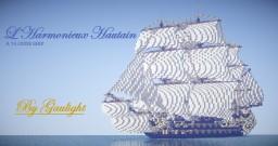 """L'Harmonieux Hautain"", a 74 guns ship by Gaulight Minecraft Map & Project"