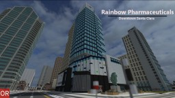 Rainbow Pharmaceuticals Building - Downtown Santa Clara Minecraft Project