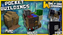 Pocket Buildings with only one command block Minecraft