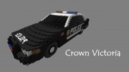 Ford Crown Victoria Cop Car | Realistic Car Minecraft Map & Project