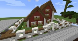 American Suburb House Minecraft Map & Project
