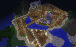 Epic medieval town Minecraft Map & Project