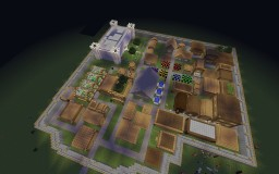 Superflat World Medieval Town Minecraft Project