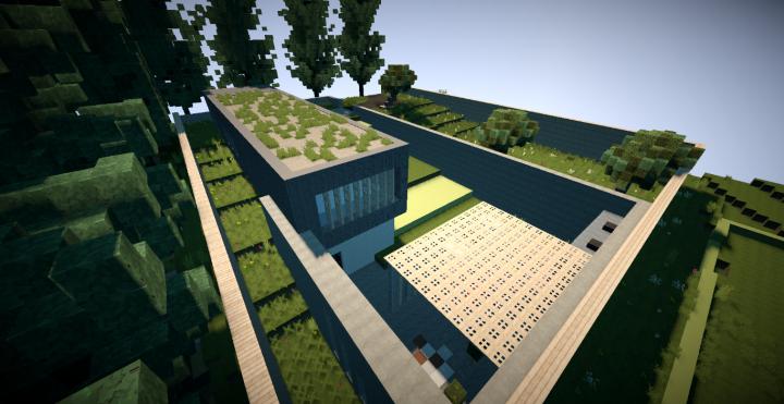 Maison moderne 5 minecraft project - Maison modern minecraft ...