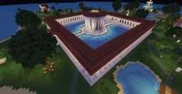 Greek Stoa with round Temple Minecraft