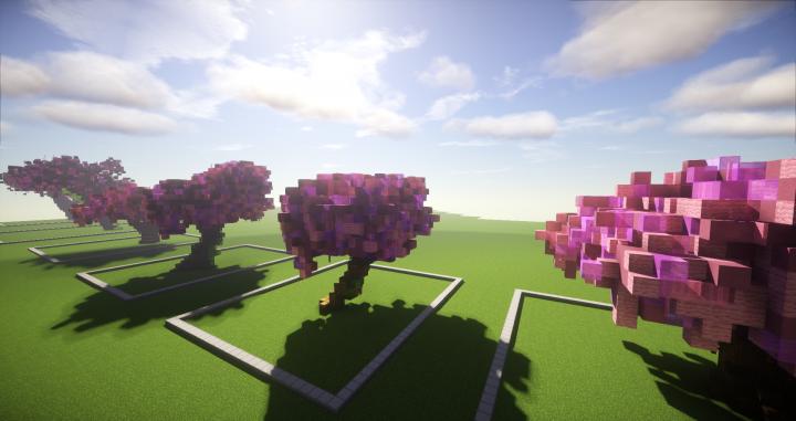 cherry trees bundle 9 cherry trees minecraft project