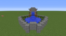 Intricate Water Fountain Minecraft Map & Project