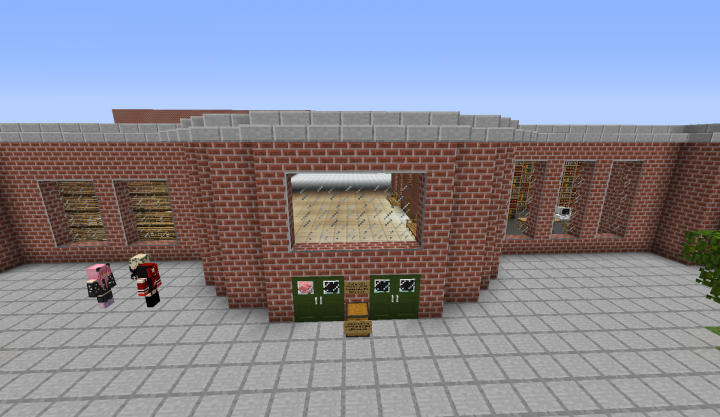 Front of the school So far