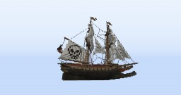 Sloop Of War - Morrigan - 1:1 Size Minecraft