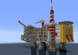 Offshore oil platform Minecraft Map & Project