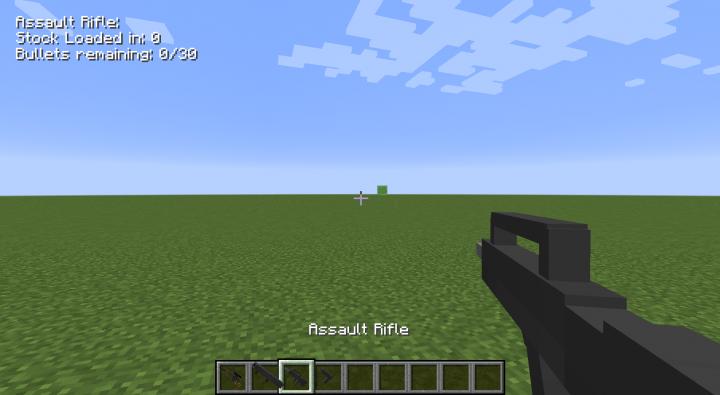 Assault Rifle, First Person