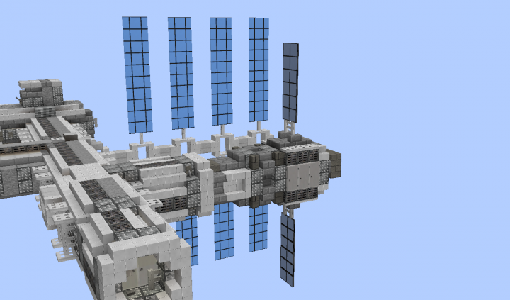 A view of the station with a capsule docked
