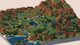 Mellow Mesa - 2k x 2k Custom Terrain - 360 Panorama Minecraft Map & Project
