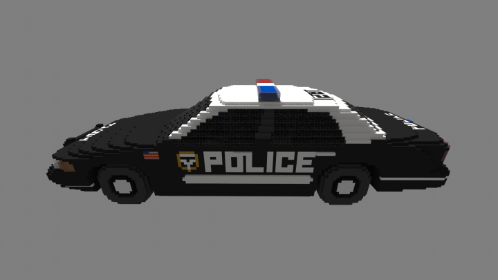 how to make a police car on minecraft