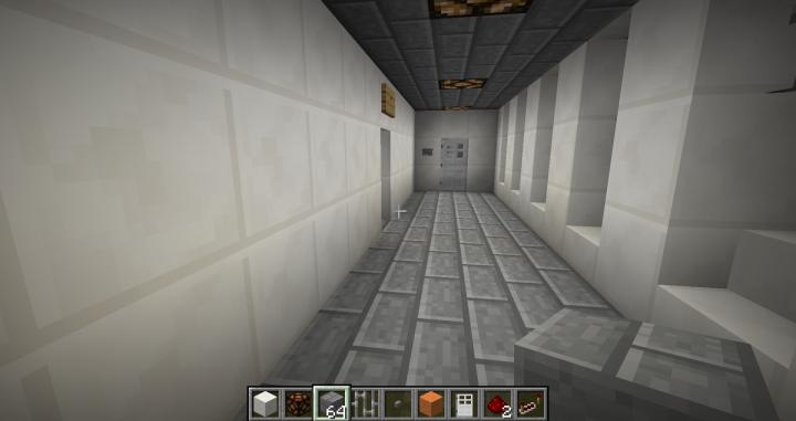 random hall with bathrooms