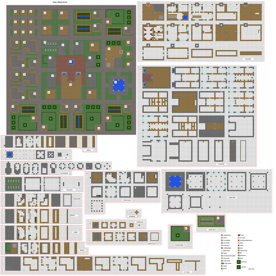 Coltcoyote U0026 39 S Old Village Blueprints  Plans  Actually Built   Minecraft Project