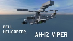 Bell AH-1Z Viper Helicopter | (1,2: 1 Scale) Minecraft Map & Project