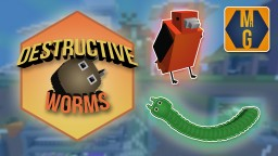 Destructive Worms (Game) Minecraft Map & Project