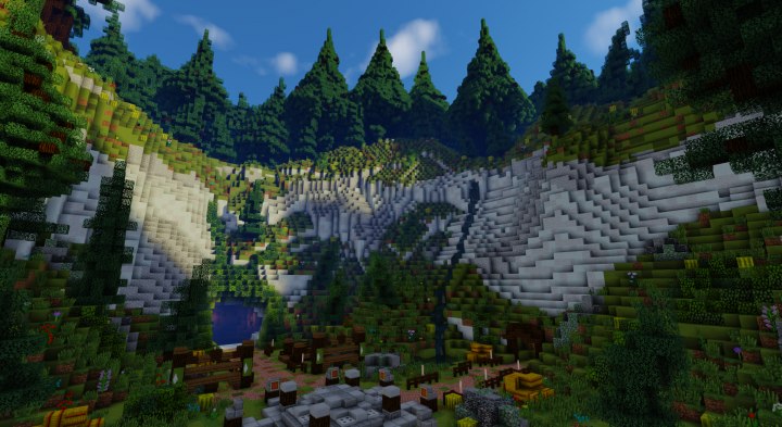 Spawn / Hub] White Valley (Download / 3 Portals) Minecraft