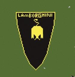 Lamborhini logo in minecraft