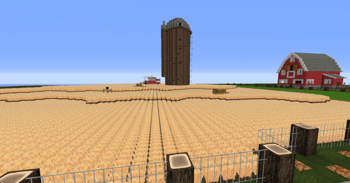 Minecraft 1 10 Farm Complete With Barn Silo House And