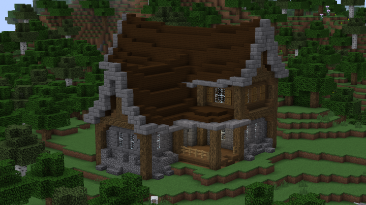 Medieval Spruce House Minecraft Project