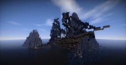 Ship wrecked on the rock Minecraft