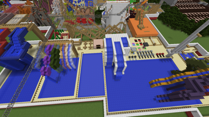 An overview of the Exterior Water Park as of 1.6.