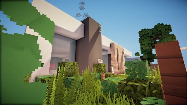 Minimalist modern house minecraft project for Minimalist house minecraft
