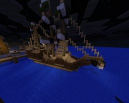 """Small Galleon """"Vertigo"""" (Inspired by The Witcher """"Season of Storms"""") Minecraft Map & Project"""