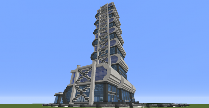 Quartz Tower 5 Minecraft Project