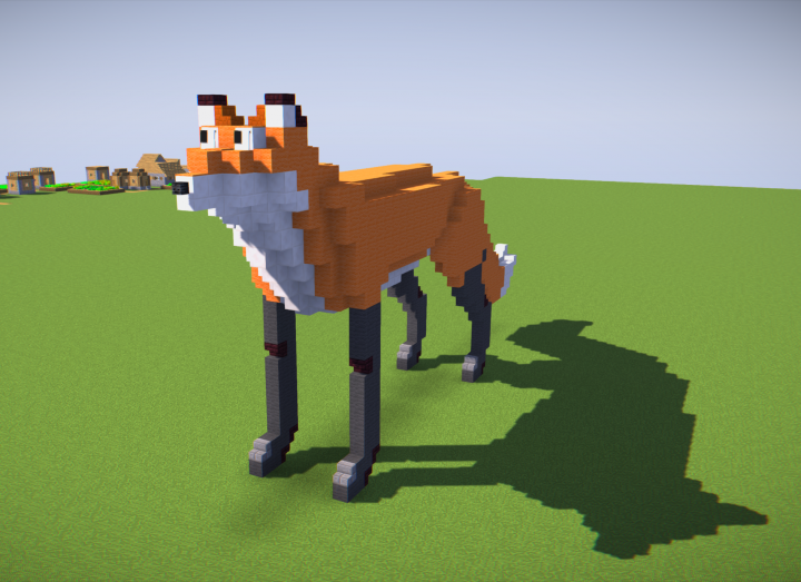 how to make a fox banner on minecraft