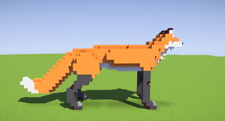 how to make a cute fox in minecraft