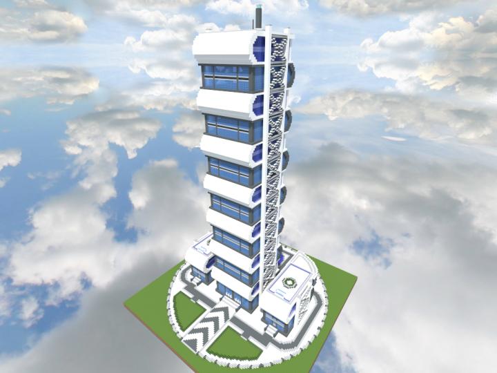 Quartz Tower 5 Minecraft Project